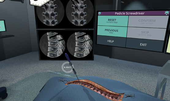 The platform not only provides visual aides but also uses haptics to simulate the feel of tissue, bones and muscle