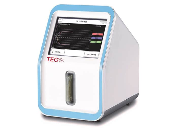 Haemonetics TEG 6s Hemostasis Analyzer Cleared for Trauma Testing