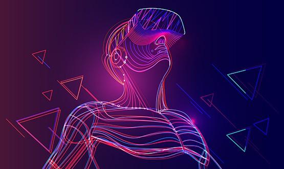 Virtual reality man
