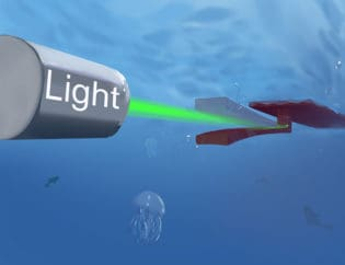 Light Powered Robot Made from Hydrogel to Operate Inside Body