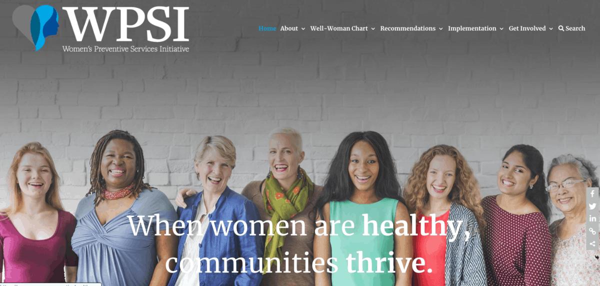 Women's Preventive Services Initiative Web App