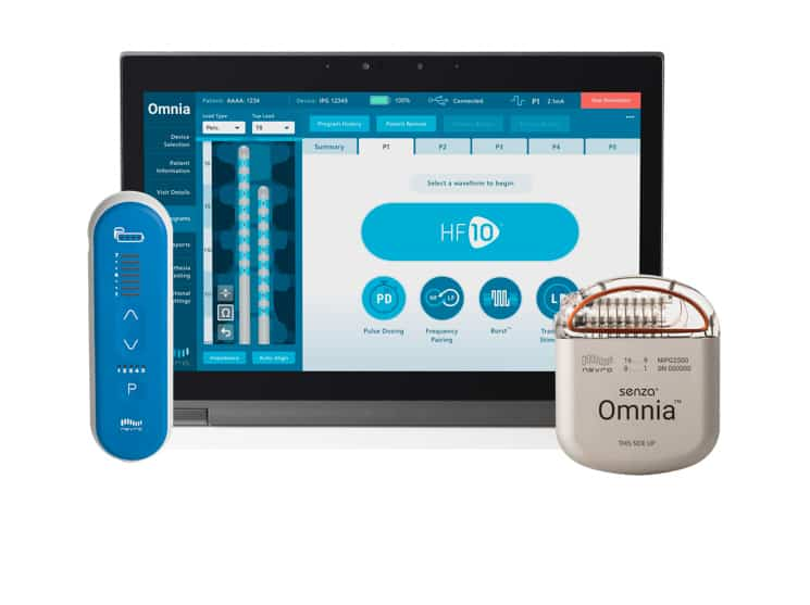 Senza Omnia Stimulator for Chronic Pain, with Widest Frequency Range, FDA Approved