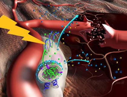 Nanostimulators Activate Damaged Tissue to Heal Itself